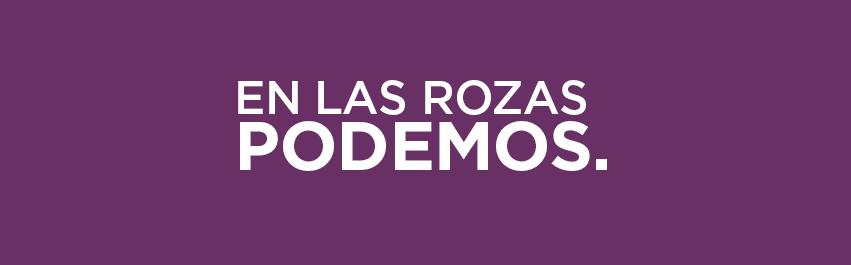 Banner en Las Rozas Podemos morado