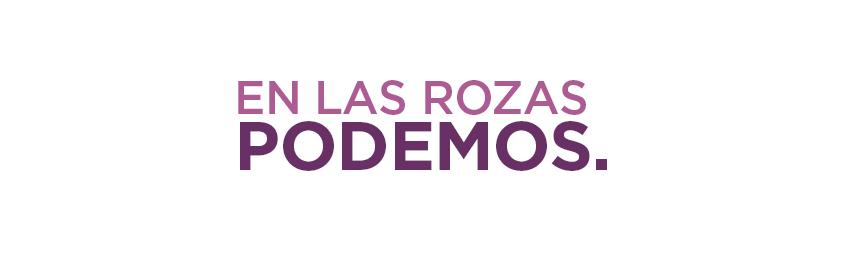 Banner en Las Rozas Podemos blanco