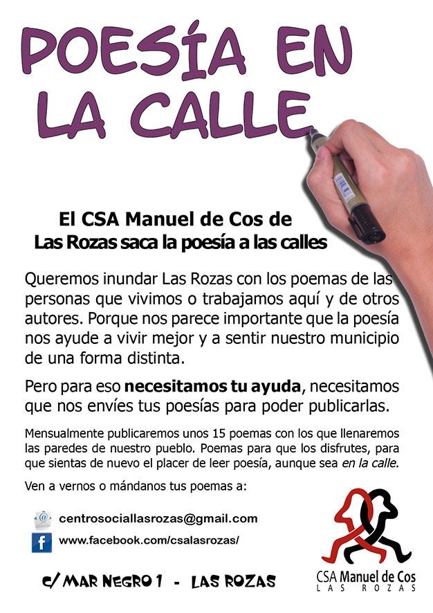 """Lee más sobre el artículo Poesía en La Calle """"Acción del CSA Manuel de Cos de Las Rozas"""""""