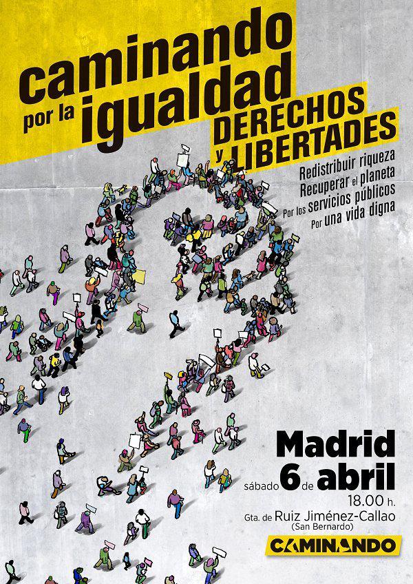 Manifestación Caminando: sábado 6 de abril