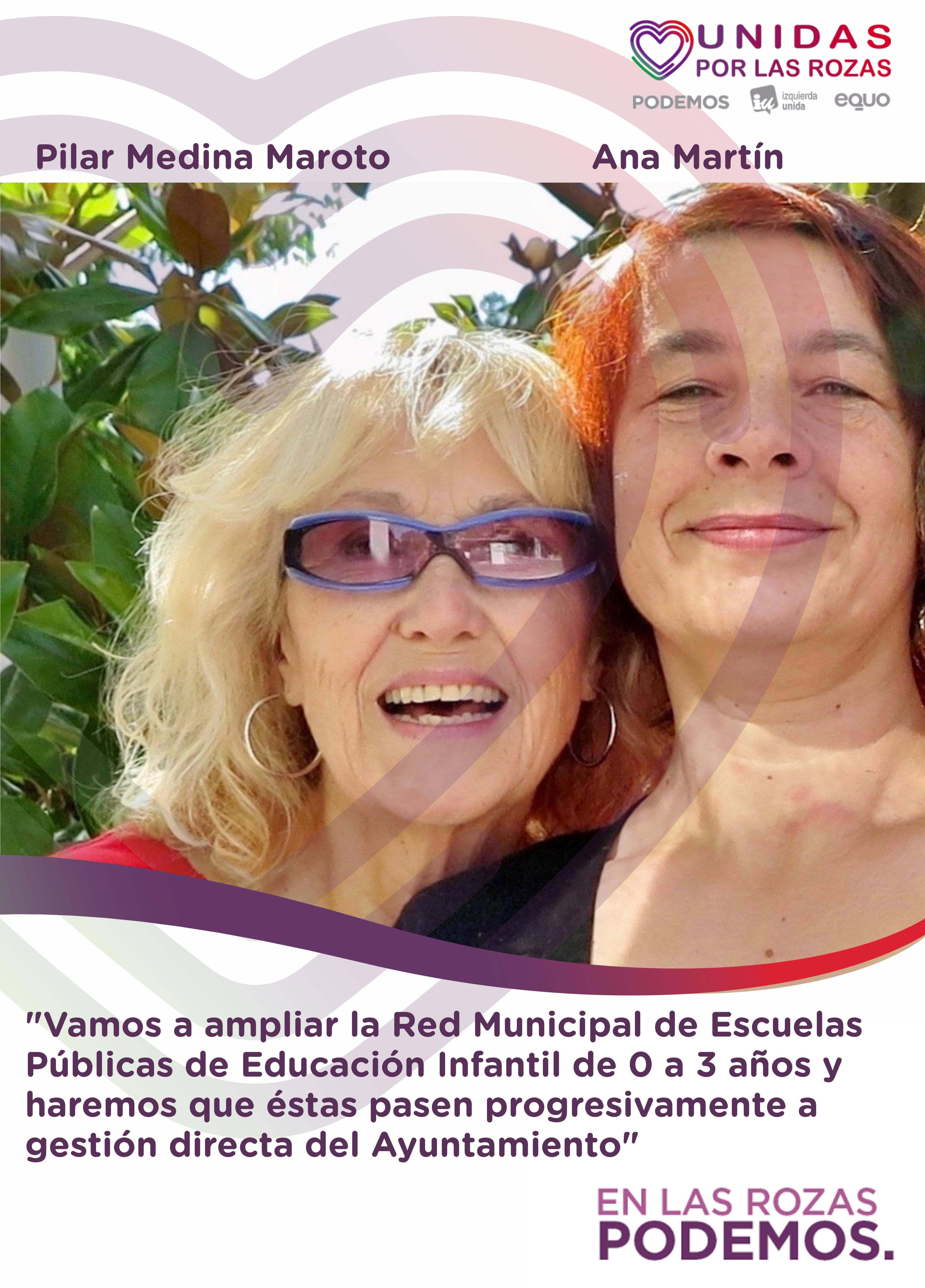 Pilar_Ana_Escuelas_infantiles_UPLR_Podemos_rozas