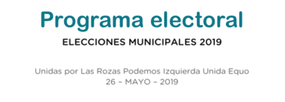 Programa electoral unidas por las rozas